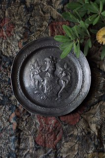 ピューター紋章プレート-antique decoration pewter plate