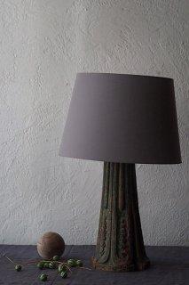 SUNSHADE木彫ランプ-antique wood base table lamp