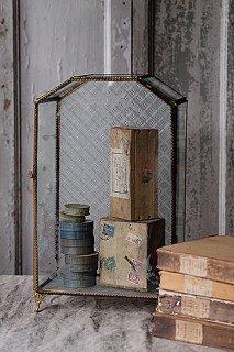 マリアージュのガラスケース-antique glass show case