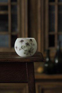 写実艶と色を留める-antique opaline glass vase