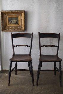 楡スクロールバックチェア-antique scroll back windsor chair