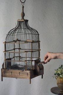 シルエットと空気感乗せた鳥籠-antique bird cage