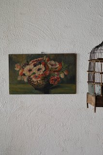 境地、開花を喜ぶ心-antique oil painting