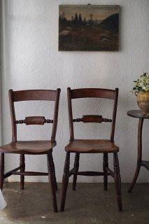 煉瓦色ウィッカムチェア-antique stay back chair