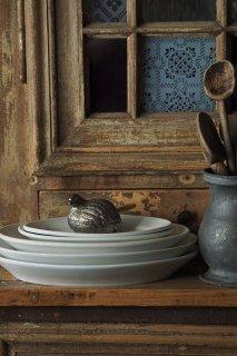 ウズラうずくまり-vintage pewter pot