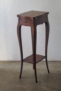 象嵌装飾の飾り台-antique inlay side chest