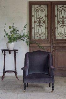 ウィングバックソファ-antique wing back single sofa