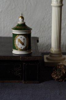 Nの紋章さんざめく-antique ceramic pot