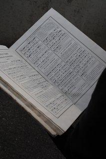 聖歌隊唱えことば-antique hymn book