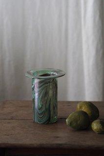うねり、色がマーブル-vintage or antique glass vase