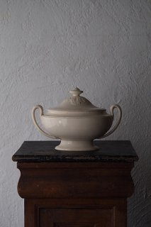 大きなスープチュリーン-antique creamware soup tureen