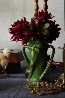 花器 ぐるぐると回行-vintage or antique pottery vase