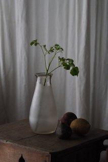 曇り融解な印象ガラス瓶-vintage glass bottle