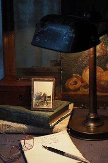 湾曲ガラススタンドフォトフレーム-antique stand photo frame