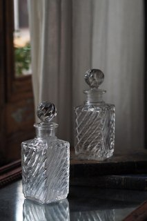 バカラ バンブー香水瓶-antique baccarat perfume bottle