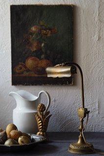 出で立ち細くテーブルランプ-antique brass stand lamp