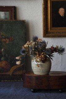 水墨滲み貯蔵壺-antique pottery ginger pot