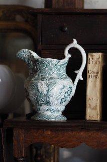 ピッチャー 不可思議な文様-antique pottery pitcher