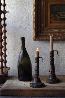 スパイラル鉄の燭台-antique candle holder