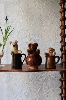 コロボックルくまちゃんトリオ-vintage teddy bear