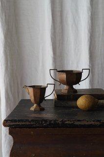 アール・デコ 角なる器-antique silver plate pitcher&sugar pot