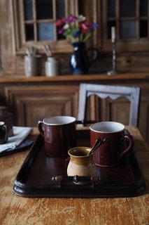 シックな木製トレイ-antique wood tray