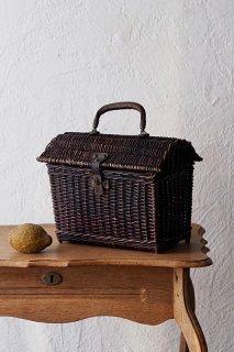 手持ちバスケット-antique rattan basket