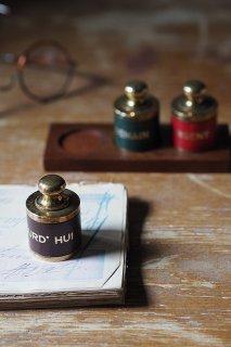 ウィットに富んで指示を-vintage brass paper weight