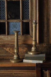 アンピール様式 ペア燭台-antique pair brass candle stand