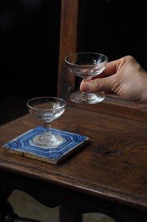 2客セット.ガラスカップおもむろに光 -vintage pair glass cup