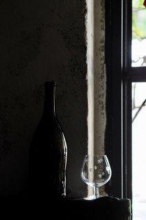 アスタリスクカット浮かぶグラス-vintage glass cup