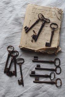 イングランド鉄の鍵 Mサイズ-antique iron key