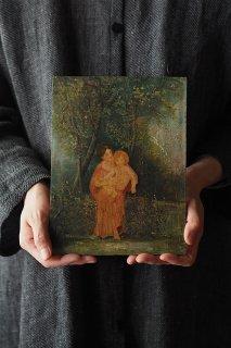 慈しみ 聖母子画-antique oil painting