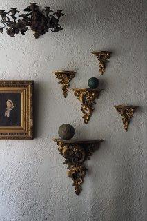 ゴールド小棚 風雲羽渦巻く-antique gold shelf