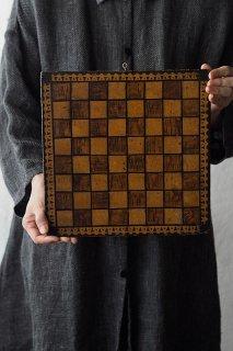 チェス盤 大陸なデザイン-antique chessboard