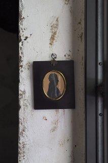 1841年・小さなシルエット画-painted silhouette