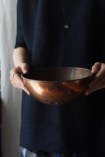 まあるく丸い-vintage or antique copper bowl