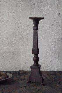 フランス 木製燭台-antique french wood candle stand