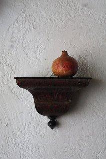 ウォールデコレーション赤の台-antique Italy wood wall display base