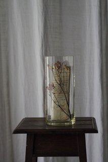 ストンと落ちる素直な花瓶-antique glass flower vase