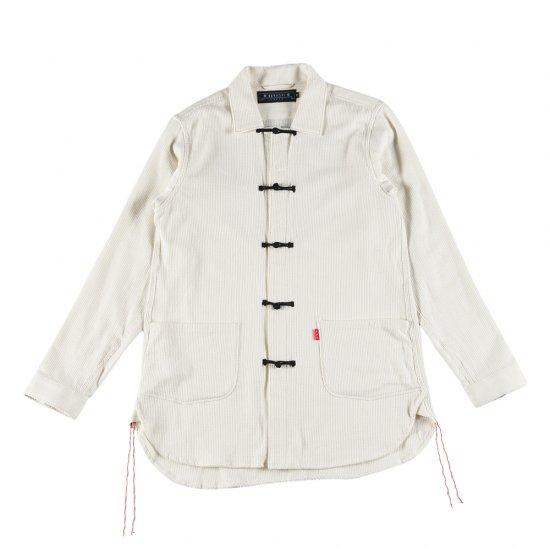 ナナシ Kamon Shirt Coverall WHITE