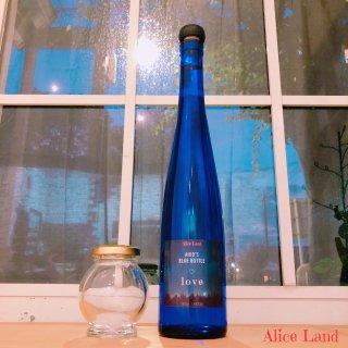【雑貨】*あなたの名前入*new moon blue bottle & salt  ( blue bottle + 100g)