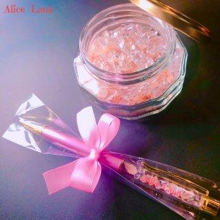 【雑貨】Alice Land original  ボールペン & jewelry salt *ピンクヒマラヤ岩塩(100g)