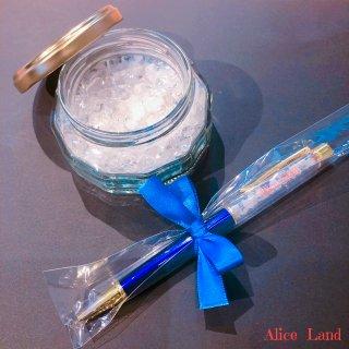 【雑貨】Alice Land original  ボールペン & jewelry salt *クリスタルブルー(100g)