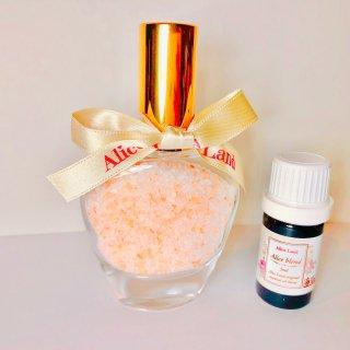 【雑貨】Perfume chakra salt (第2チャクラ) & Alice Land original  オーガニック精油 (33g+5ml)