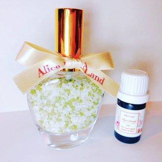 【雑貨】Perfume chakra salt (第4チャクラ) & Alice Land original  オーガニック精油 (33g+5ml)