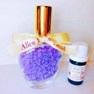 【雑貨】Perfume chakra salt (第7チャクラ) & Alice Land original  オーガニック精油 (33g+5ml)