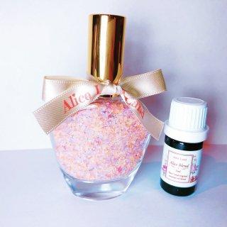 【雑貨】Perfume chakra salt (第8チャクラGalaxy) & Alice Land original  オーガニック精油 (33g+5ml)