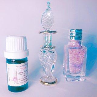 【雑貨】ritual salt & 小瓶(green) & Alice Land original  オーガニック精油 (15g+5ml)