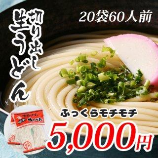 【神埼麺】切り出し生うどん 20袋60人前【ふっくらモチモチ】